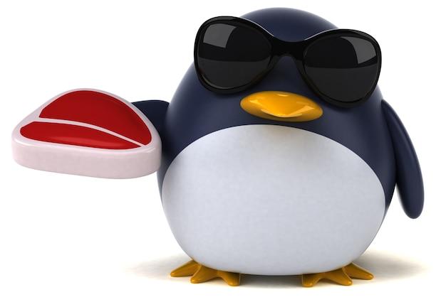Веселый пингвин - 3d персонаж