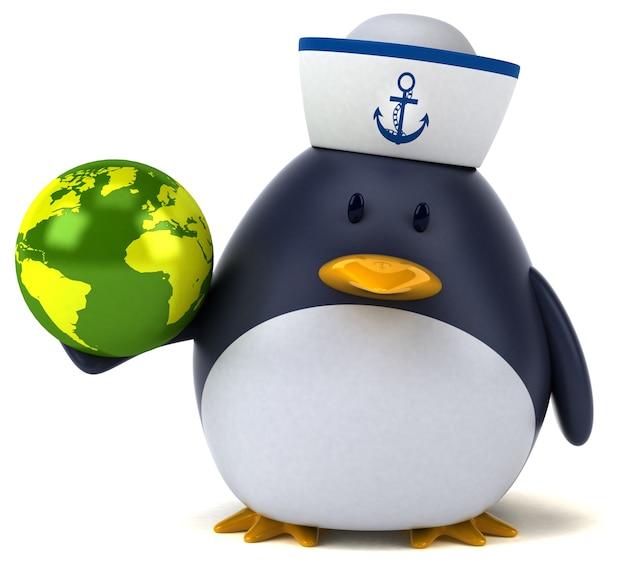 楽しいペンギン-3dキャラクター