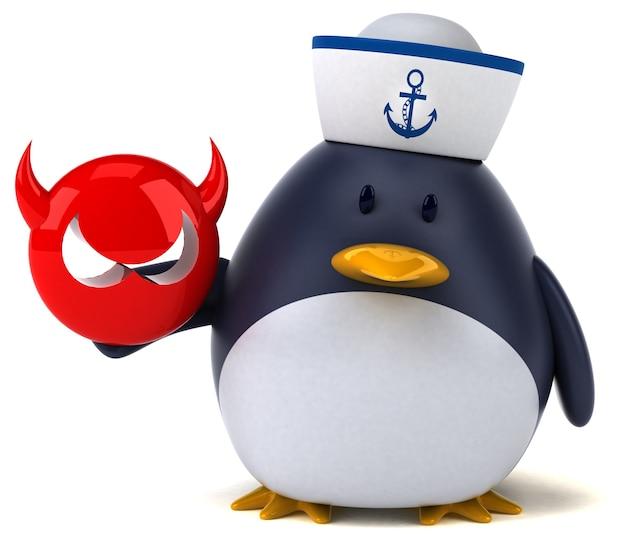 Забавный пингвин - 3d иллюстрации
