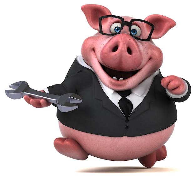 Fun pig - 3d character
