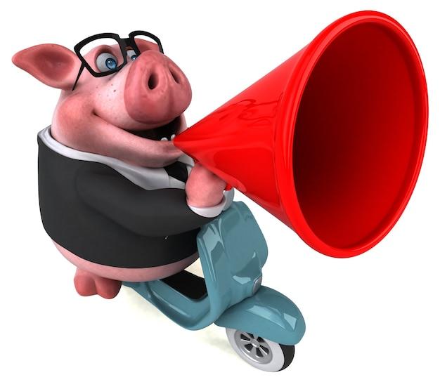 Забавная свинья - 3d персонаж