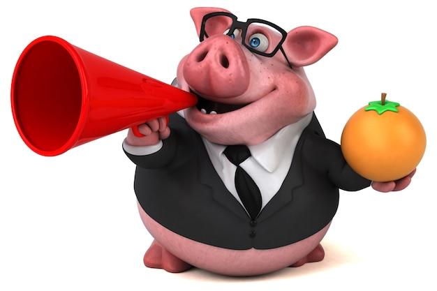 Забавная свинья 3d иллюстрация