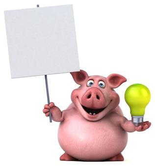 재미있는 돼지-3d 일러스트