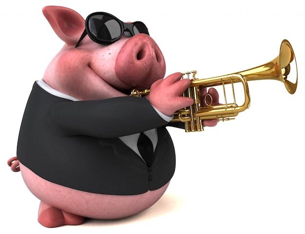 Fun pig animation