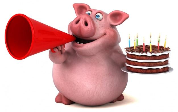 Веселая свинья