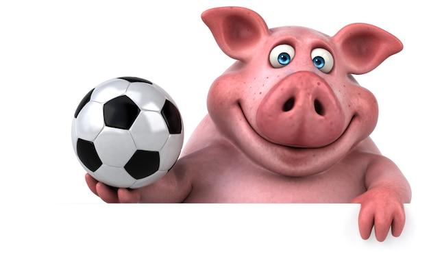 楽しい豚のアニメーション