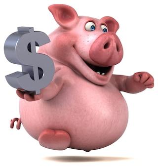 재미있는 돼지 그림