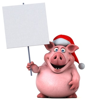 Fun pig illustration