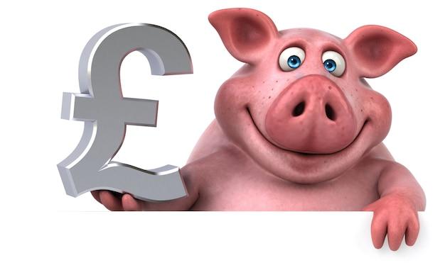 Иллюстрация весело свинья