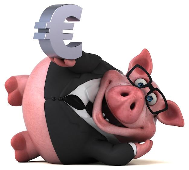 Забавная иллюстрация свиньи