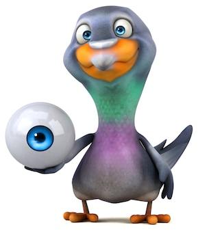 재미있는 비둘기 -3d 일러스트