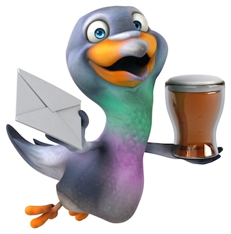 Весело голубь 3d иллюстрации