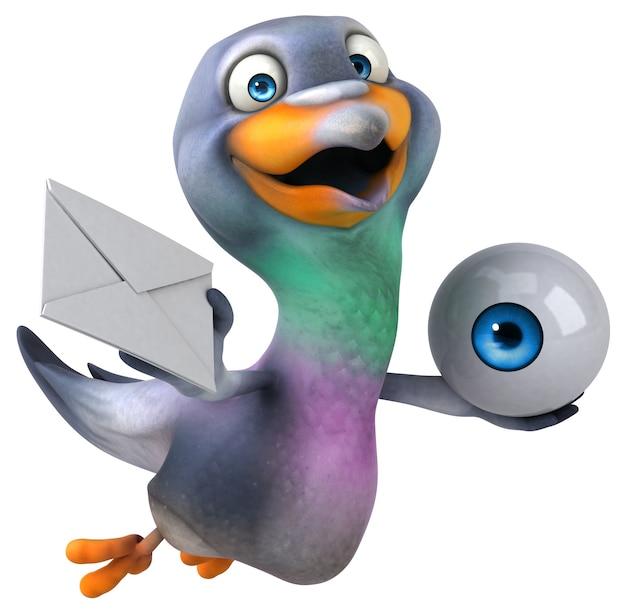 재미있는 비둘기 3d 그림