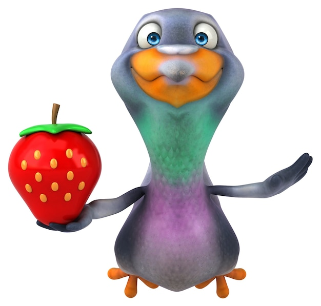 Fun pigeon - illustrazione 3d