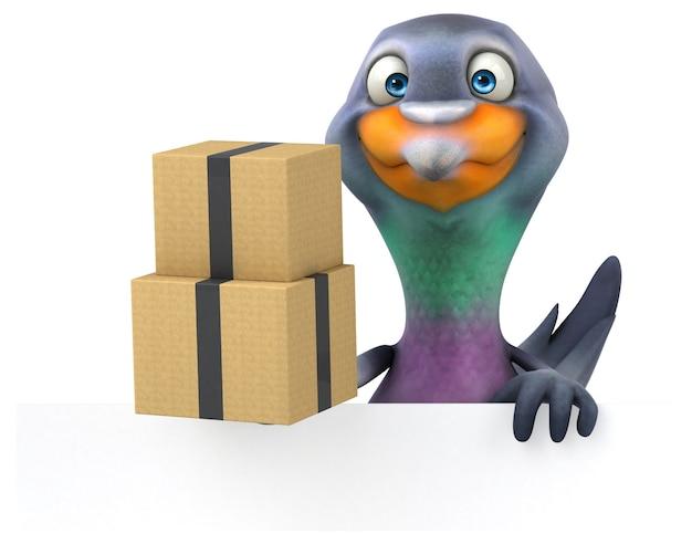 Веселый голубь - 3d иллюстрации