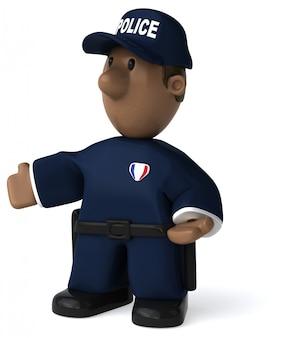 Fun policeman 3d illustration