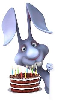 Забавный кролик - 3d иллюстрации