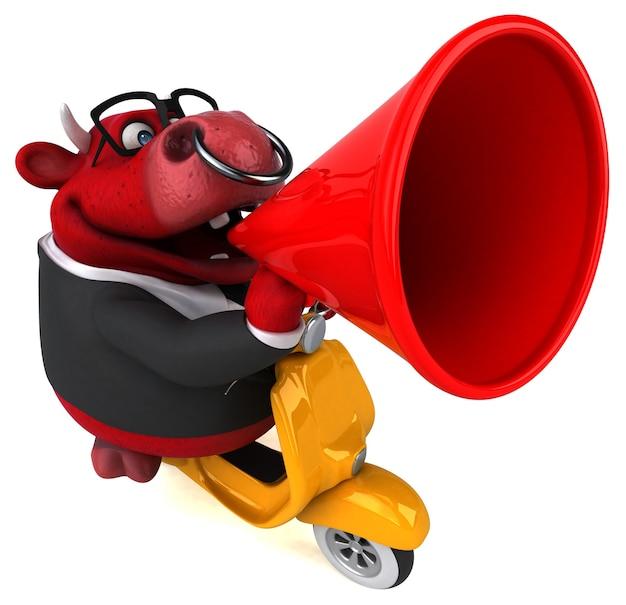 Fun red bull illustration