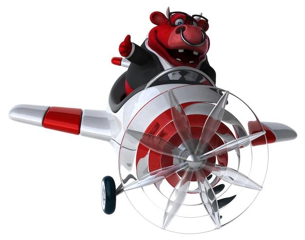 Иллюстрация весело красный бык