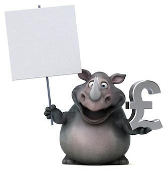 Забавная иллюстрация носорога
