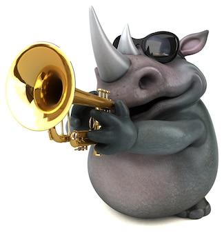 Fun rhino illustration