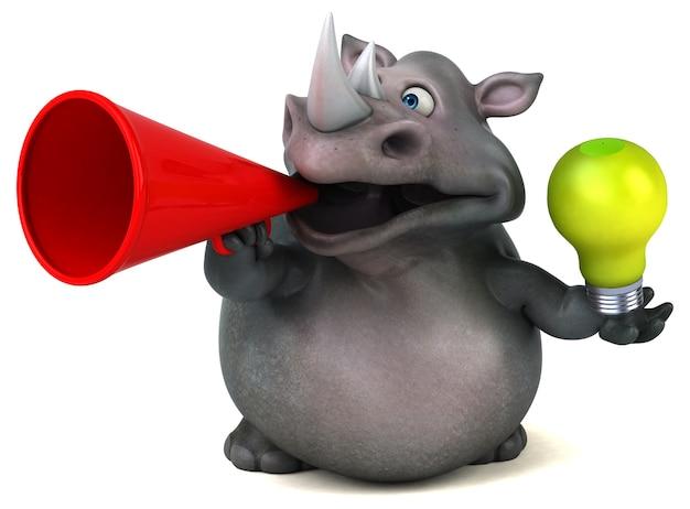 재미 코뿔소 -3d 일러스트