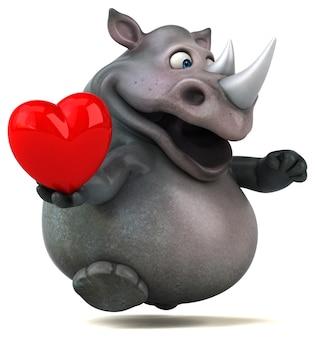 Забавная анимация носорога