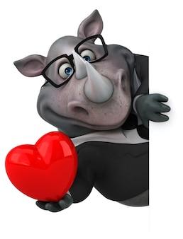 Иллюстрация забавного носорога
