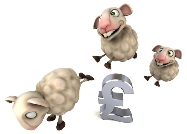 楽しい羊-3dイラスト