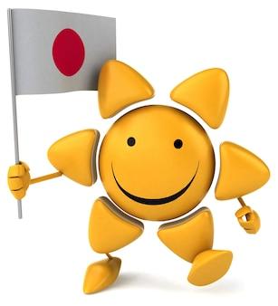 Fun sun  3d character
