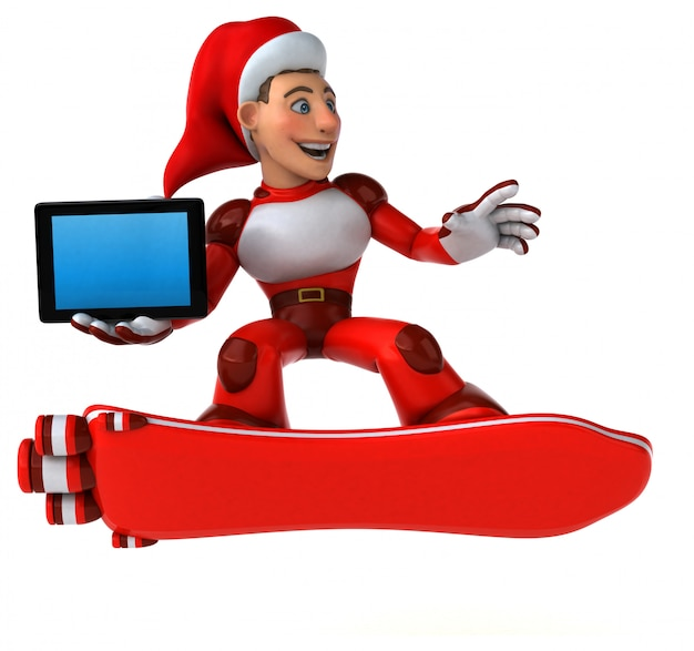 Fun super santa claus - 3d character