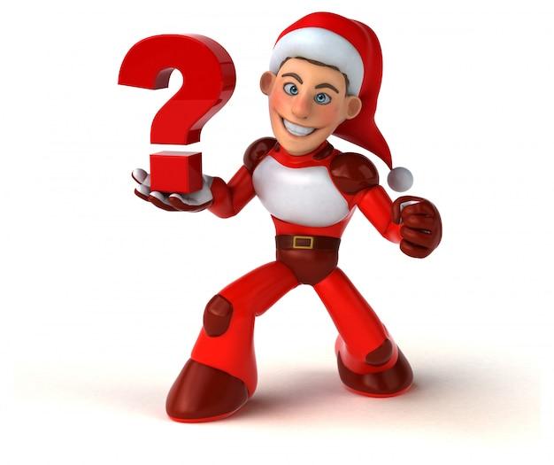Fun super santa claus - 3d character