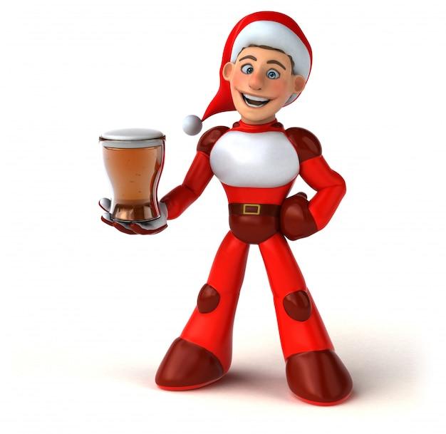 Fun super santa claus - 3d персонаж