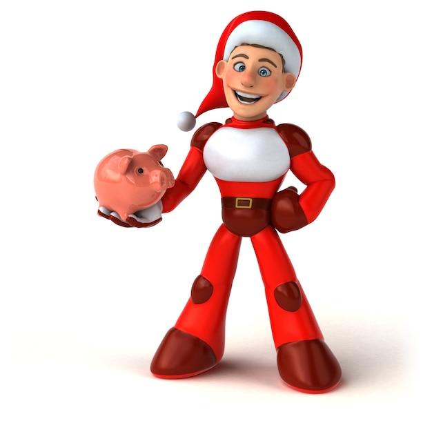 재미있는 슈퍼 산타 클로스 그림