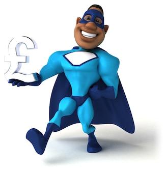 Весело супергероя 3d иллюстрации