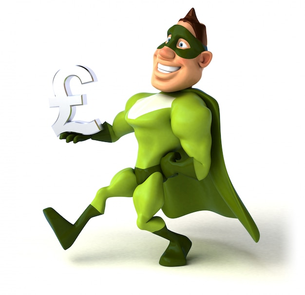 楽しいスーパーヒーローアニメーション