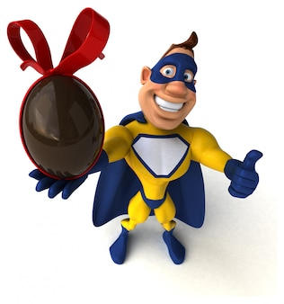 Fun superhero character isolated