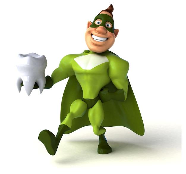 Fun superhero illustration