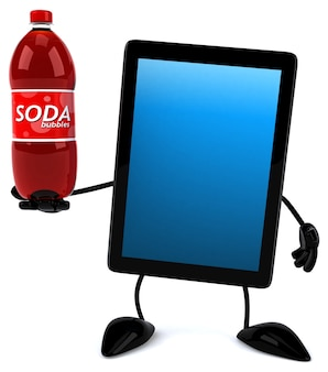 Fun tablet 3d character