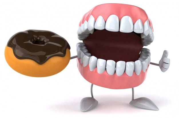 Fun teeth - 3d character