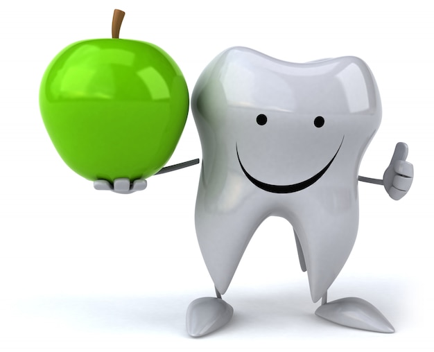 Fun tooth - 3d character