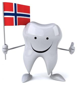 Забавный зуб - 3d персонаж