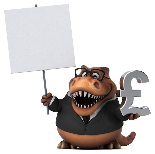 Fun trex 3d иллюстрация