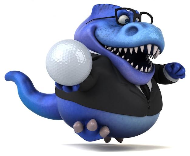 Fun trex - 3d иллюстрация