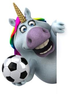 Fun unicorn - 3d illustration
