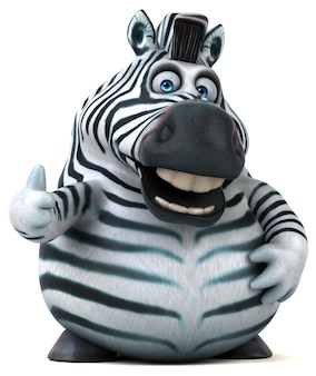 Fun zebra animation