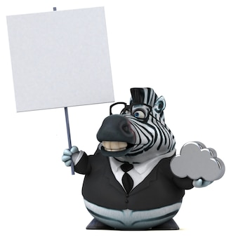Забавная зебра иллюстрация