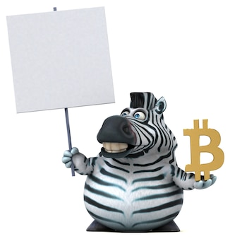 Fun zebra illustration