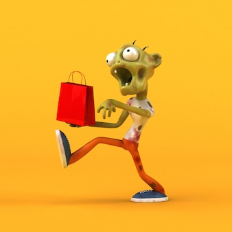 Fun zombie - 3d character
