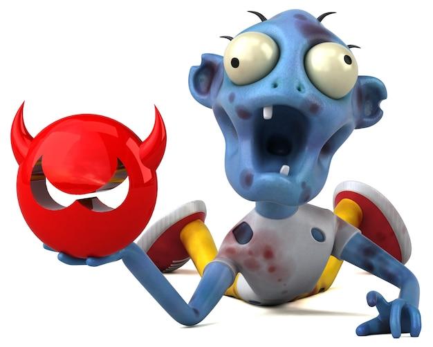 Весело зомби 3d иллюстрации